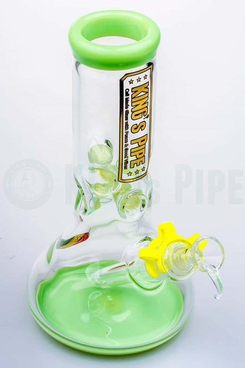 KING's Pipe Glass - 8 Inch Beaker Bong with Lime
