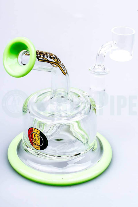 KING's Pipe Glass - Inline Perc FAT CAN Dab Rig