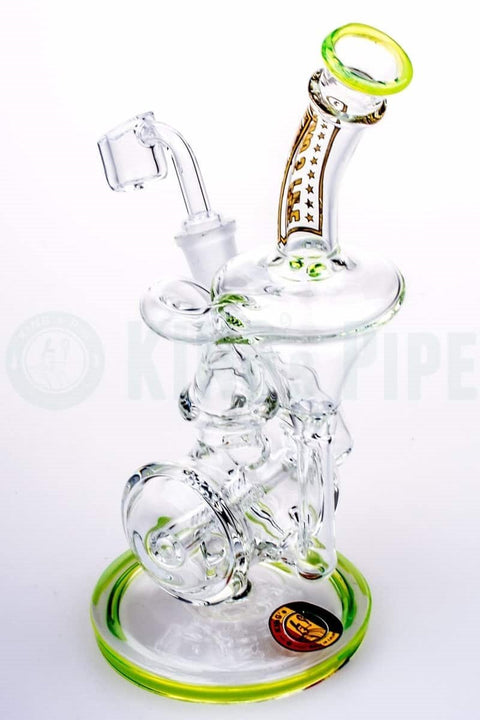 KING's Pipe Glass - Double Inline Slit Perc Recycler