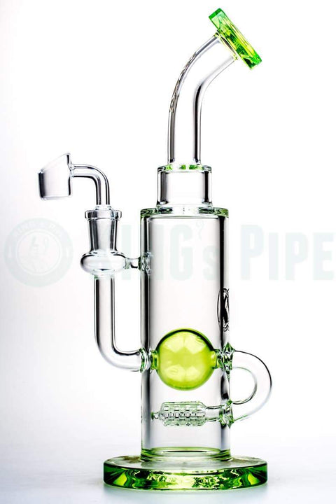 Maverick Glass - Gridded Inline Perc to Ball Dab Rig