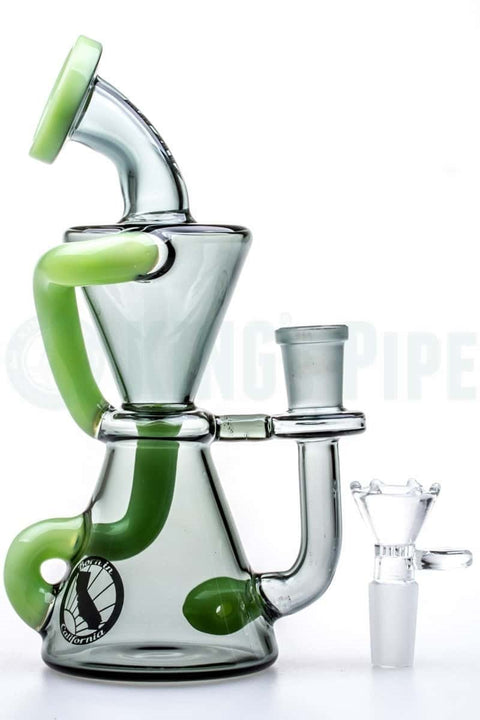 MAV Glass - Smokey Mini Hourglass Recycler