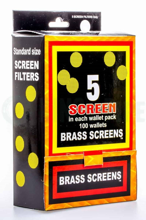 Box of Brass Screens - 100 Packs (500 Screens Total)