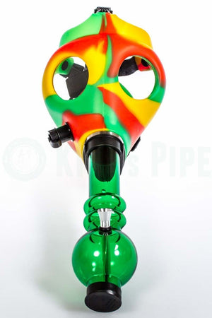 Rasta Gas Mask Water Pipe Bong