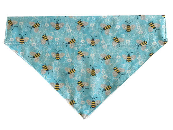 Blue and Silver Bees - Reversible
