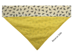 Light Yellow Bumble Bees - Reversible
