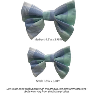 Green and Purple Pastel Plaid Sailor Bow