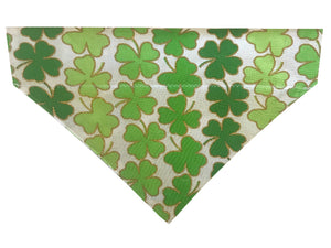 Large Green Glitter Shamrocks