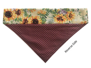 Maroon and Gold Polka Dot Sunflowers - Reversible