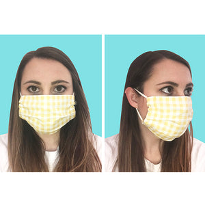 Fish/Navy Pleated Face Mask
