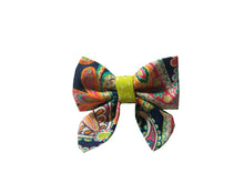 Load image into Gallery viewer, Navy Paisley Sailor Bow