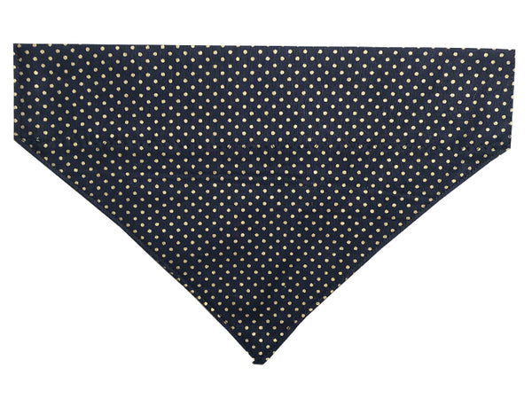 Navy and Gold Polka Dots