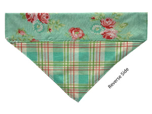 Pastel Flowers and Plaid - Reversible