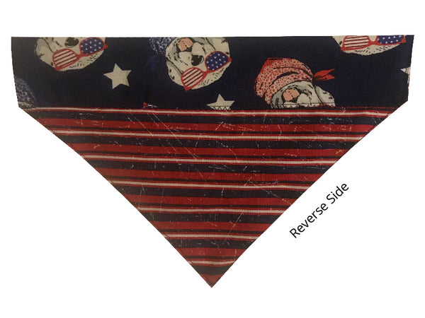 Patriotic Dogs and Stripes - Reversible