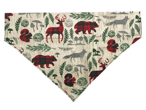 Plaid Woodland Animals