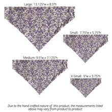 Load image into Gallery viewer, Purple Floral Scrolls - Reversible