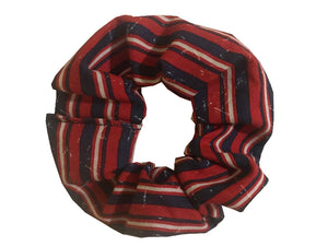 Red White and Blue Stripe Scrunchie