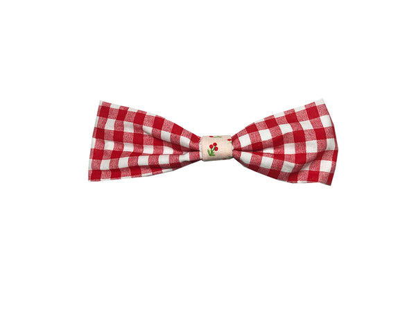 Red Gingham Single Bow