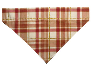 Red and Beige Plaid