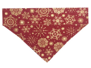 Red and Gold Snowflakes