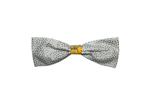 Silver Polka Dots Single Bow