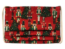 Load image into Gallery viewer, Nutcracker/Red Plaid Pleated Face Mask