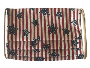 Stars and Stripes Pleated Face Mask