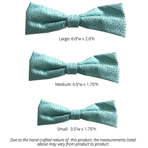 Teal and Brown Polka Dot Single Bow