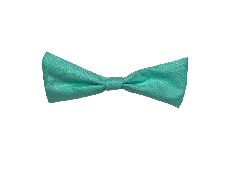 Teal with White Polka Dots Single Bow