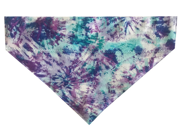 Teal and Purple Tie Dye