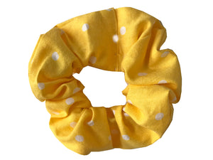 Yellow Polka Dot Scrunchie