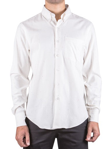 Off-White Soft Twill Long Sleeve Buttondown Shirt
