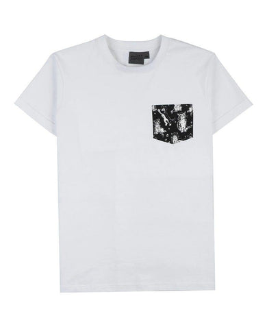 White + Cute Cats Black Pocket Tee