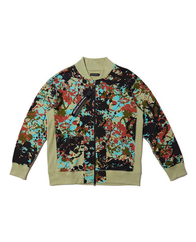 Speckle Peace Camo Bomber Zip-up