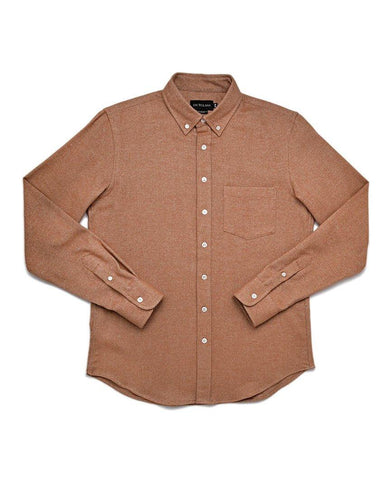 Camel Tweed Flannel Shirt