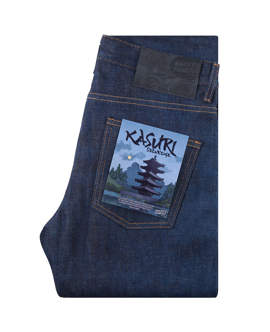 Kasuri Selvedge Weird Guy Indigo