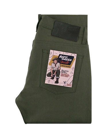 Army Green Duck Selvedge Super Guy