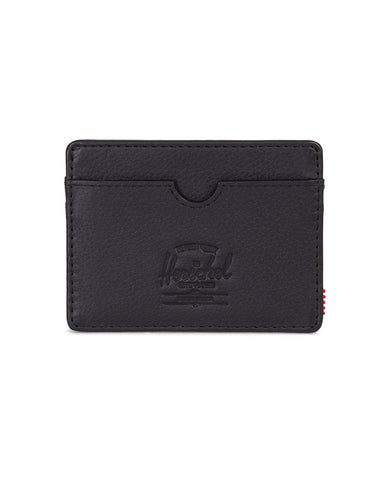Charlie Wallet Black Pebbled Leather