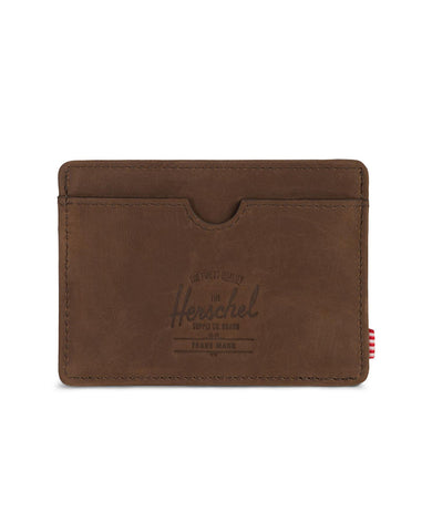 Charlie Wallet Nubuck Brown Leather