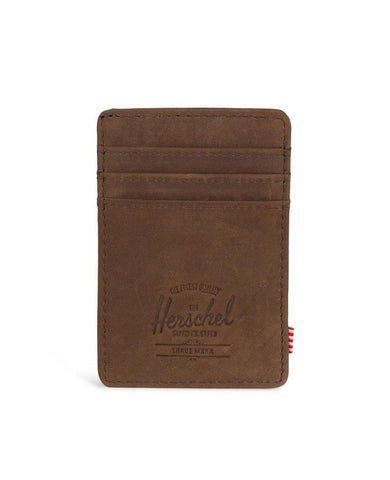 Raven Wallet Nubuck Brown Leather