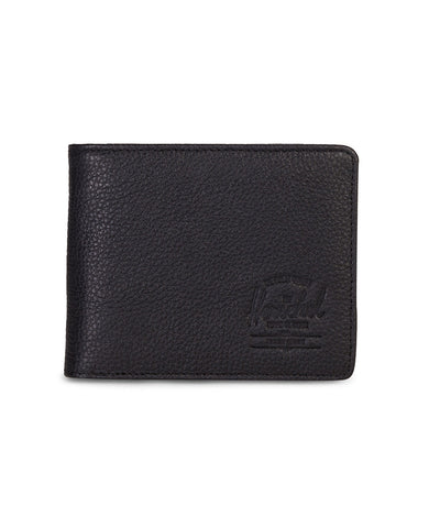 Hank Wallet Black Pebbled Leather