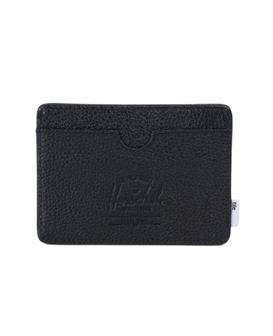 Charlie Wallet Tile Black Pebbled Leather