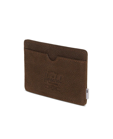 Charlie Wallet Tile Brown Pebbled Nubuck