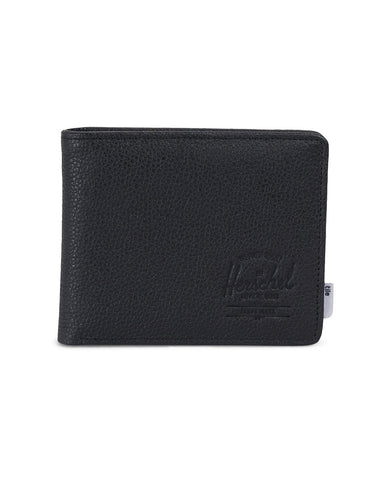 Roy Wallet Leather Tile Black Pebbled Leather