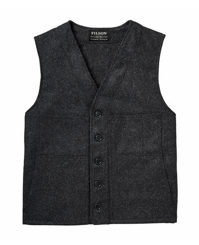 Mackinaw Wool Vest  Charcoal