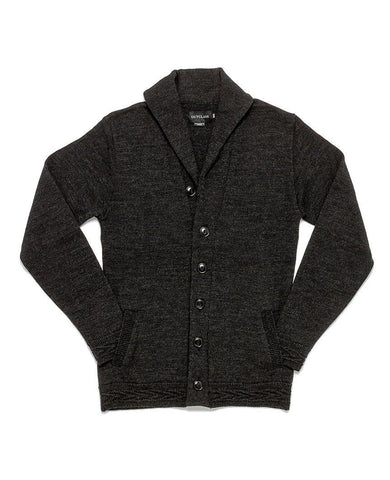 Charcoal Grey Shawl Collar Cardigan