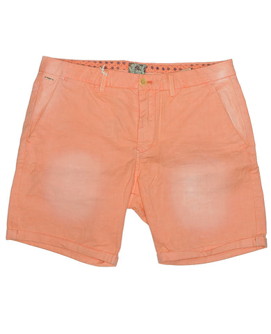 Garment Dyed Slub Shorts Coral