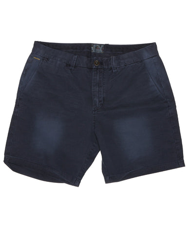 Garment Dyed Slub Shorts Navy