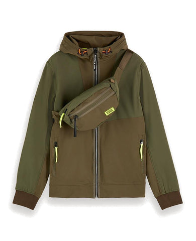 Hooded Nylon Jacket Green