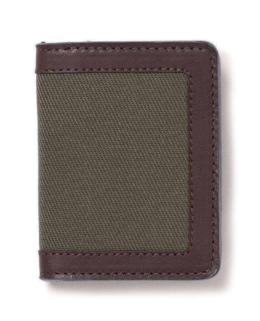 Rugged Twill Outfitter Card Wallet Outter Green
