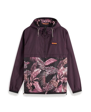 Double-Hood Jacket Maroon
